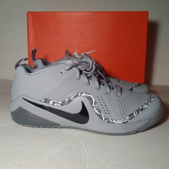 917838-002 Nike Force Zoom Trout 4 Turf Mens Baseball Shoes SZ Wolf Grey Black
